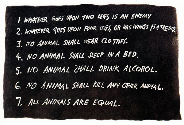 Animal Farm mandments Drawn by Ralph Steadman