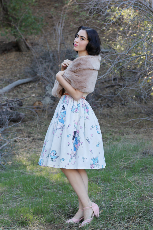 Vintage Inspired by Jackie Atomic Jax Keyhole Disney Bedsheet Dress