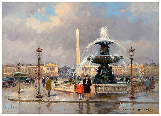 005-Fuente de la plaza de la Concordia-Edouard Leon Cortes-rehs galleries
