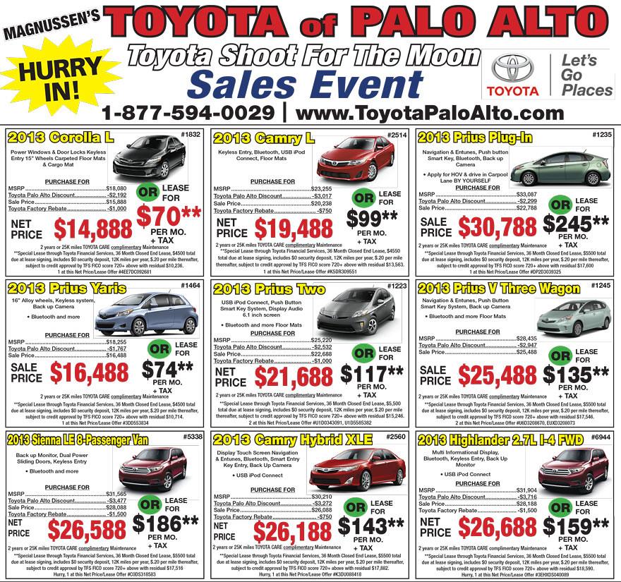 San Jose Toyota Dealer Newspaper Print Ads Toyota Dealer