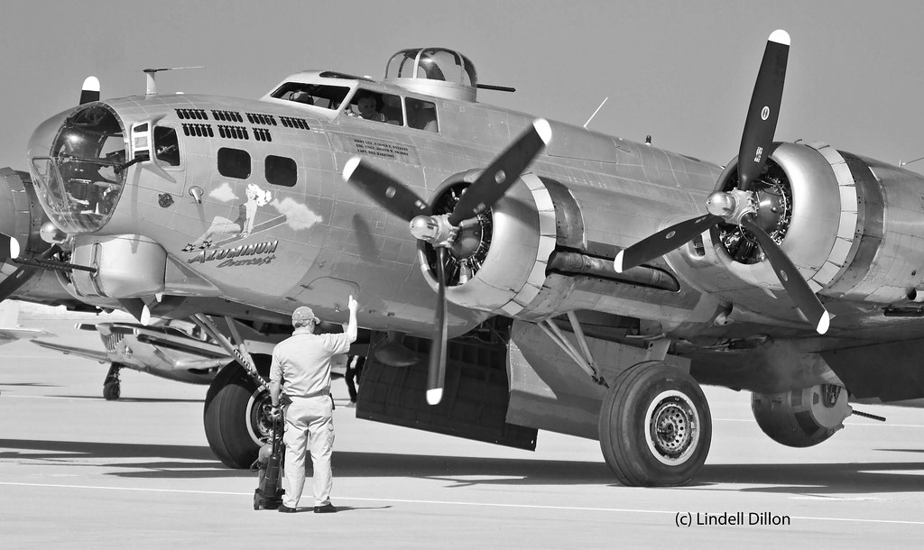 Aluminum Overcast in black and white | A vintage B-17 owned … | Flickr
