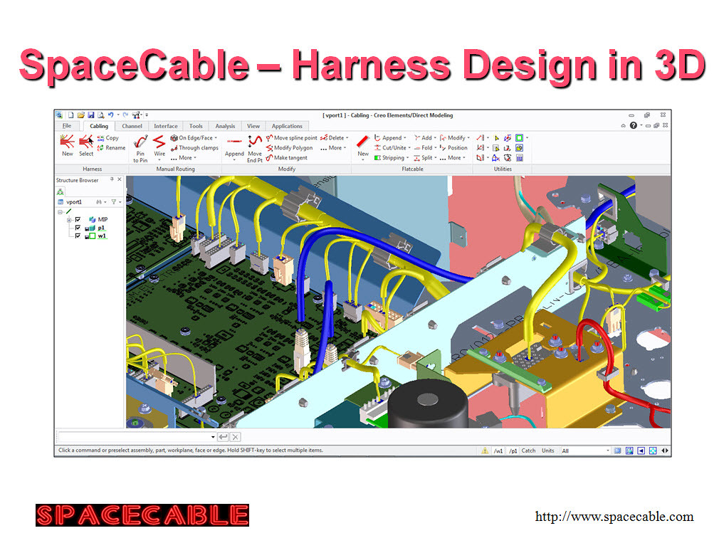 Spacecable 3d cad software for harness design New 3d design software