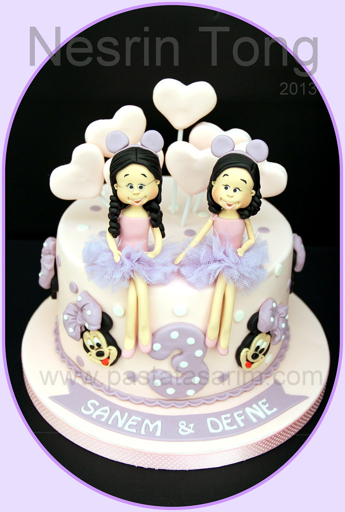 twins birthday cake - minnie mouse  CAKE BY NESRİN TONG  Flickr