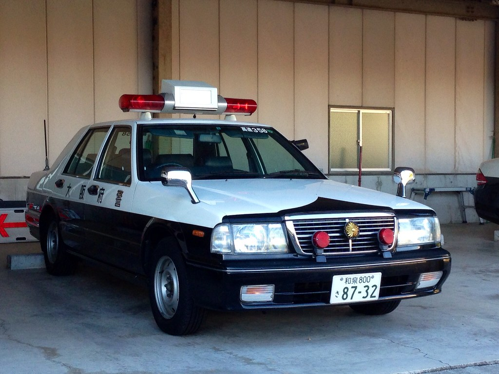nissan cedric police car type ypy31 osaka police for. Black Bedroom Furniture Sets. Home Design Ideas