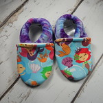 Mermaid Swirl Dye OBV 12-18  months soft sole shoes 5.5""