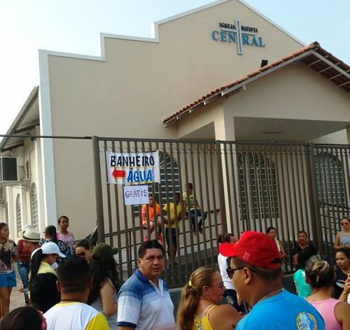 Frase do dia, Evangélicos oferecem serviços aos romeiros. Foto - João Clóvis Lisboa Filho