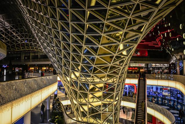 Frankfurt My Zeil Shopping Center at Night  Frankfur