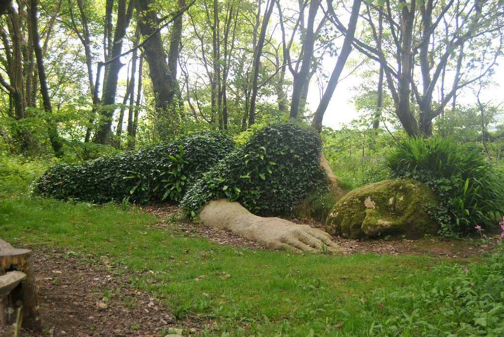 Sleeping Goddess At The Lost Gardens Of Heligan The