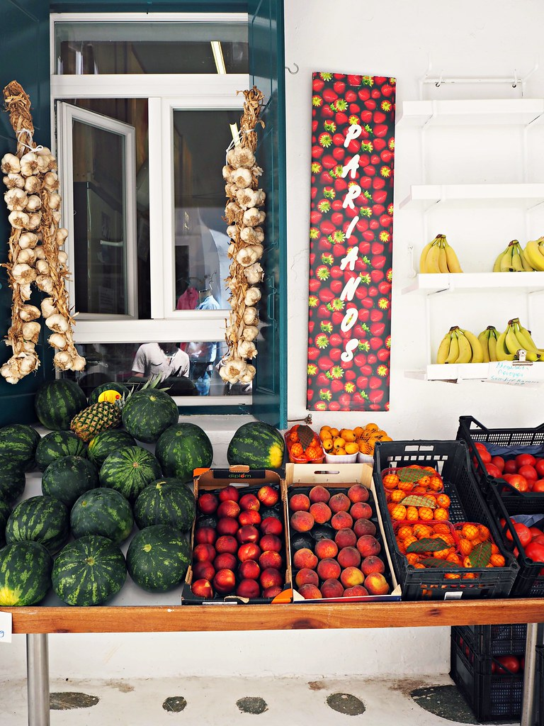 Mykonos street fruit stall