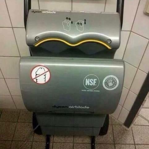 imagen graciosa de aviso en secador