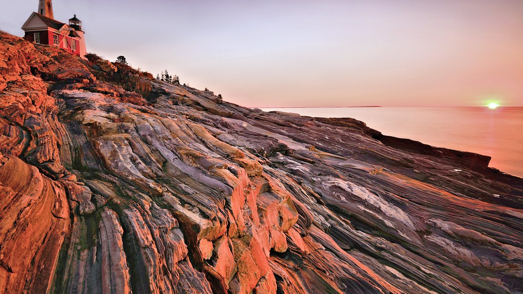 Painterly Pemaquid | Bent, twisted and broken, the rock laye… | Flickr