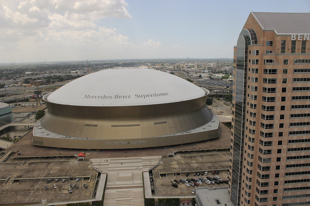 mercedes benz superdome new orleans la taken during