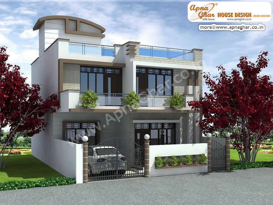 Apnaghar House Design: 3 Bedrooms Duplex House Design In