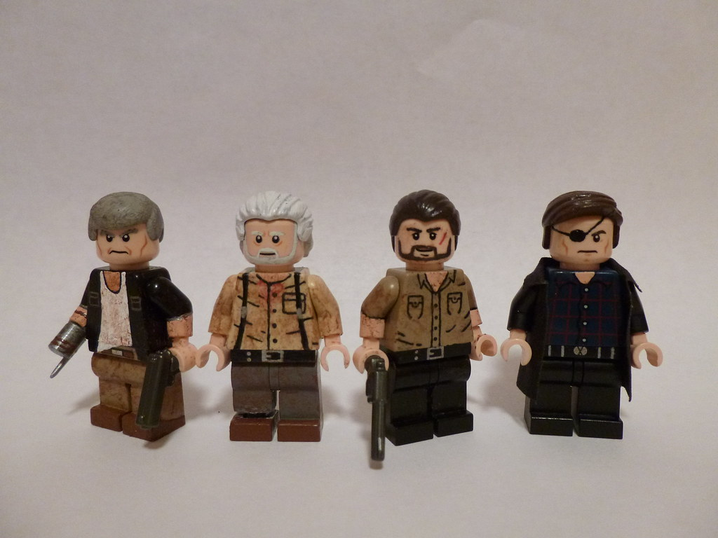 lego the walking dead characters group shot my lego the. Black Bedroom Furniture Sets. Home Design Ideas