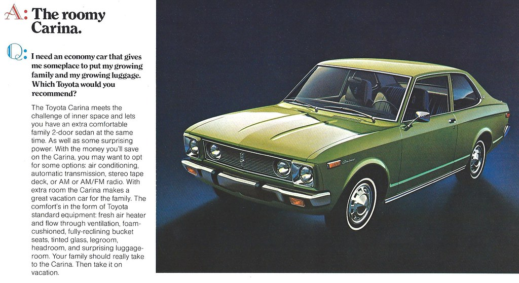1973 Toyota Carina Briefly Available In The Usa John