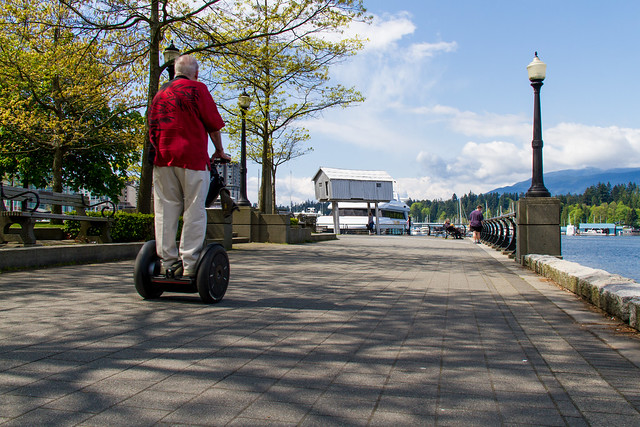 Segway on the seawall