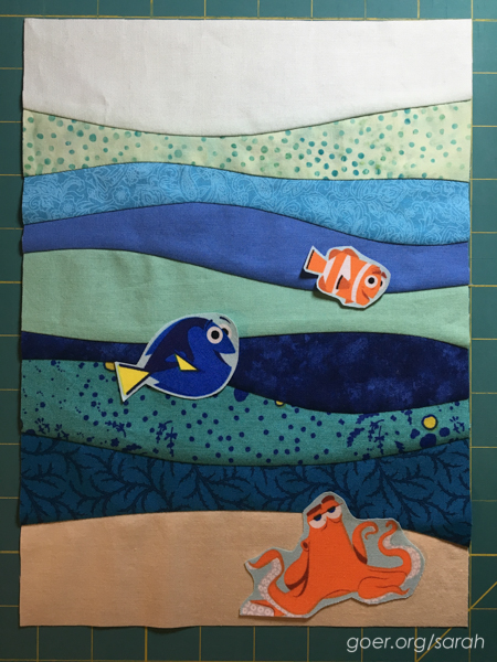 Finding Dory Swap Package Sarah Goer Quilts
