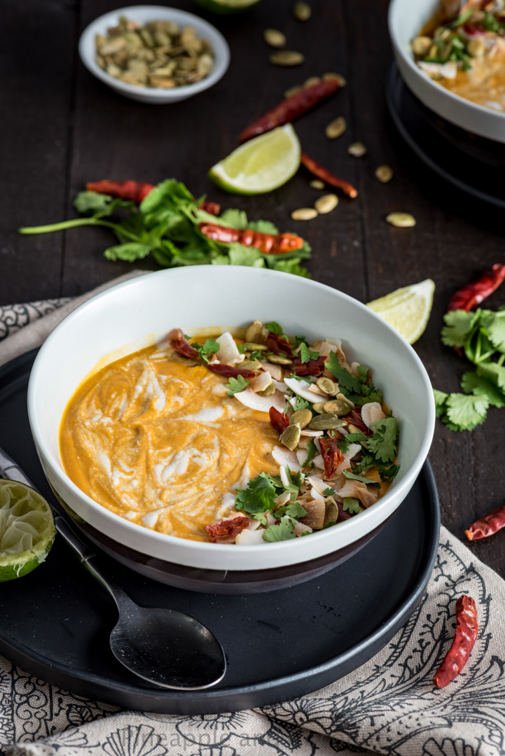 Thai Pumpkin Curry Soup www.pineappleandcoconut.com #AD #WorldMarket #Discover
