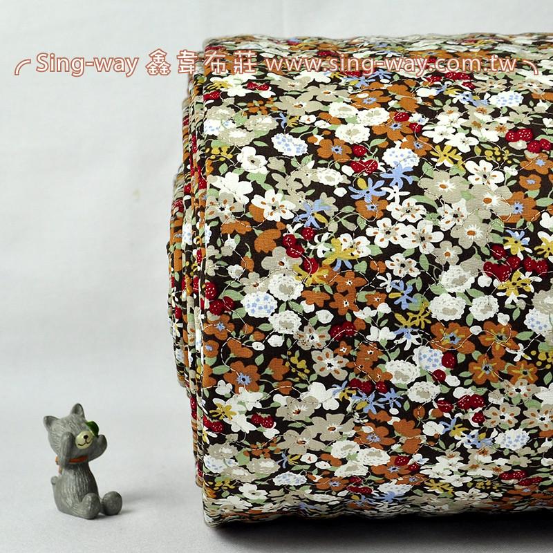 【限宅配】 水彩花 百花綻放花卉 鋪棉內裡 手工藝DIy拼布布料 B890065