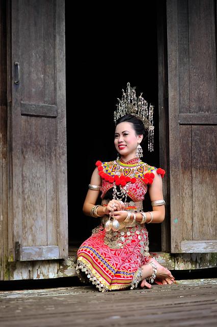 ngepan iban(iban traditional custom)in sarawak borneo(west Malaysia)