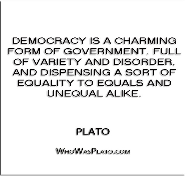 Democracy is a matter of degree and equality