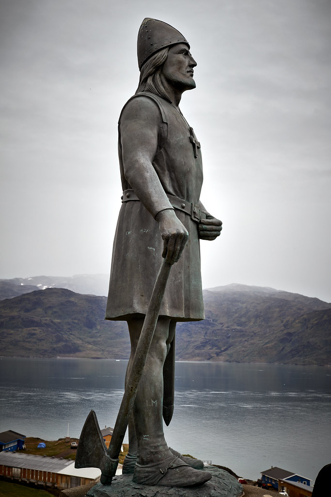 Statue of Leif Ericson in Qassiarsuk Photo by Camilla