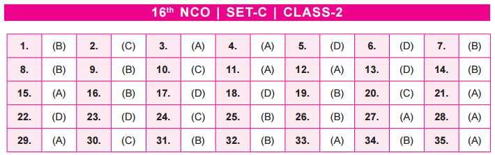 NCO Answer Keys class 2