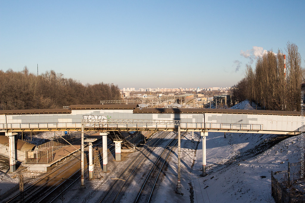Вид на платформу Москворечье и Печатники