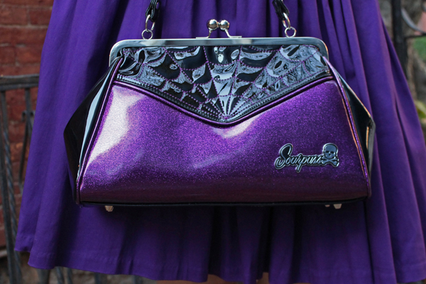 sourpuss spiderweb purse