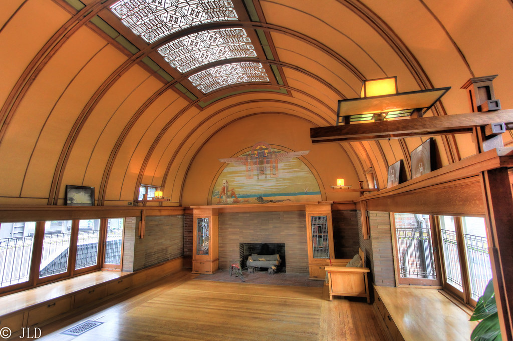Barrel Vaulted Ceiling In The Frank Lloyd Wright Home