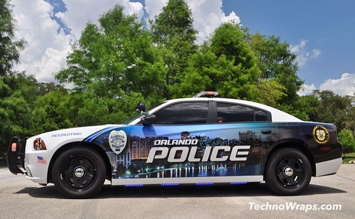 Police Car Graphics Wrap By Technosigns In Orlando
