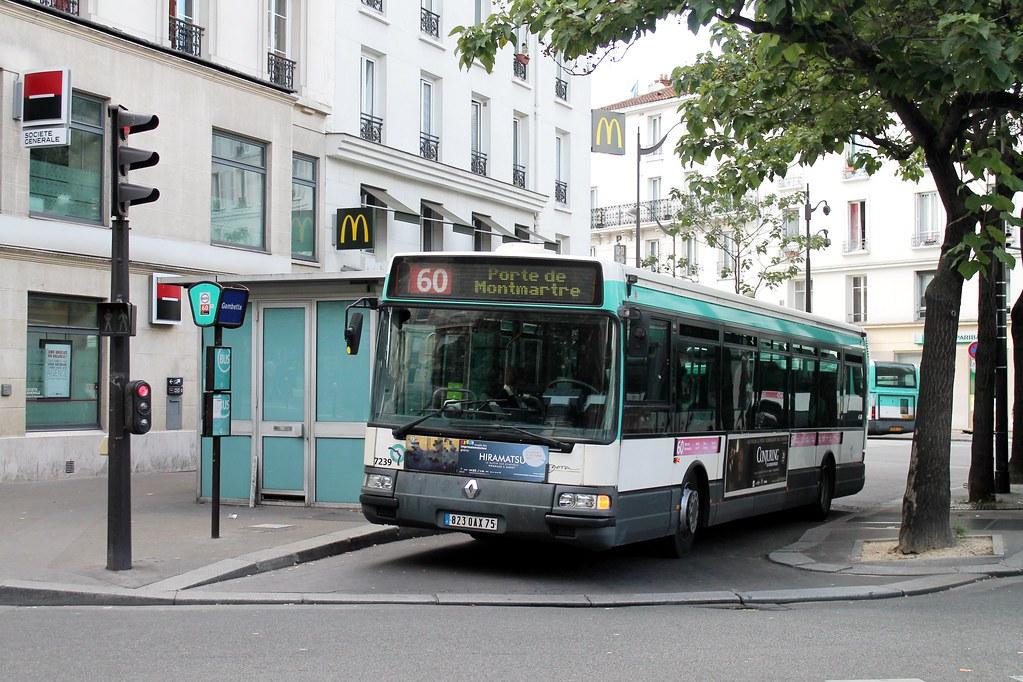 ratp paris bus 7239 60 gambette to porte de montmartre 1 flickr. Black Bedroom Furniture Sets. Home Design Ideas