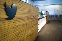 Twitter HQ: Reception desk