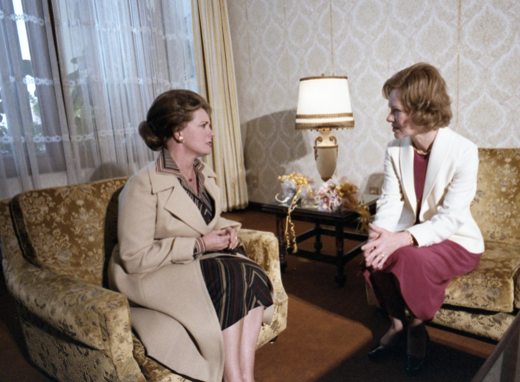 Mrs Jehan Sadat And Mrs Rosalynn Carter In Cairo March