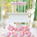 Pink Ombre Cake Pops in White Stand