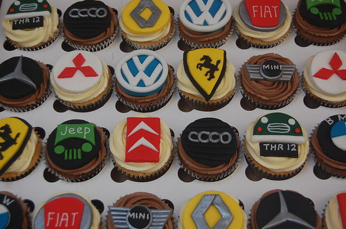 An absolute must for car crazy boys (or men!). The Car Badge Cupcakes - from £2.50 each (minimum order 12)