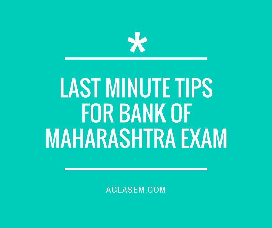 Preparation Tips for Bank Of Maharashtra - Manipal /NIIT Exam 2016