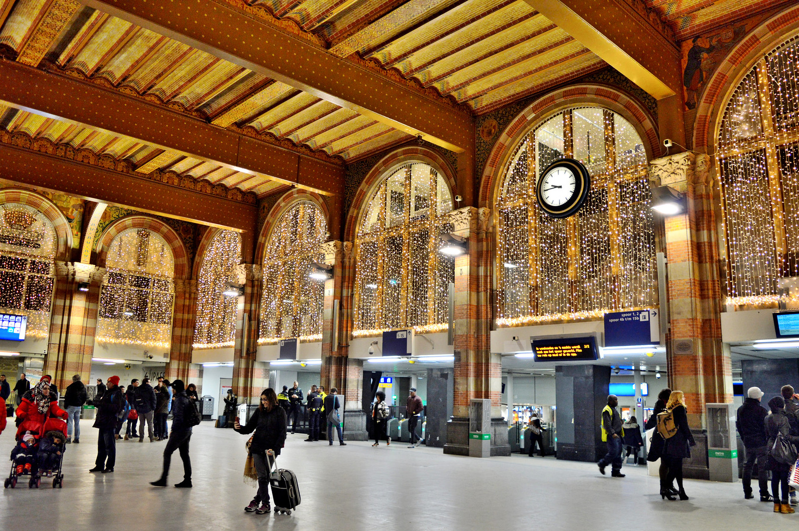 Amsterdam Central Station in December
