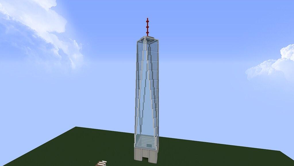 Minecraft Freedom Tower Build Via Tumblr Bit Ly Fxlm W Flickr