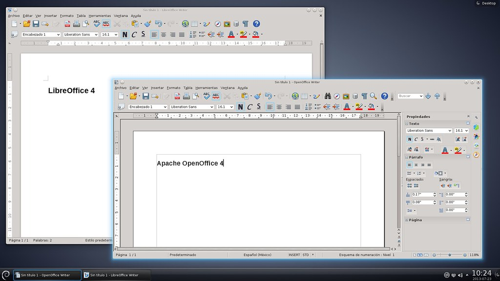 Libreoffice vs openoffice writer ejecutando ambos writer e flickr - Openoffice or libre office ...