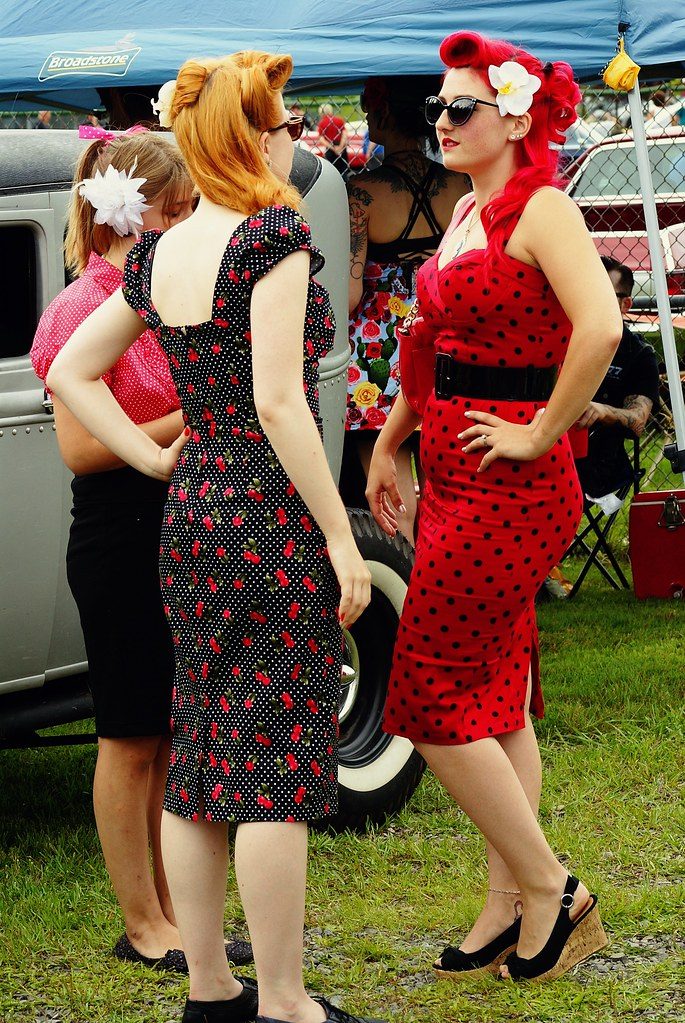 rockabilly redhead with red dress to match taken at rigau flickr. Black Bedroom Furniture Sets. Home Design Ideas
