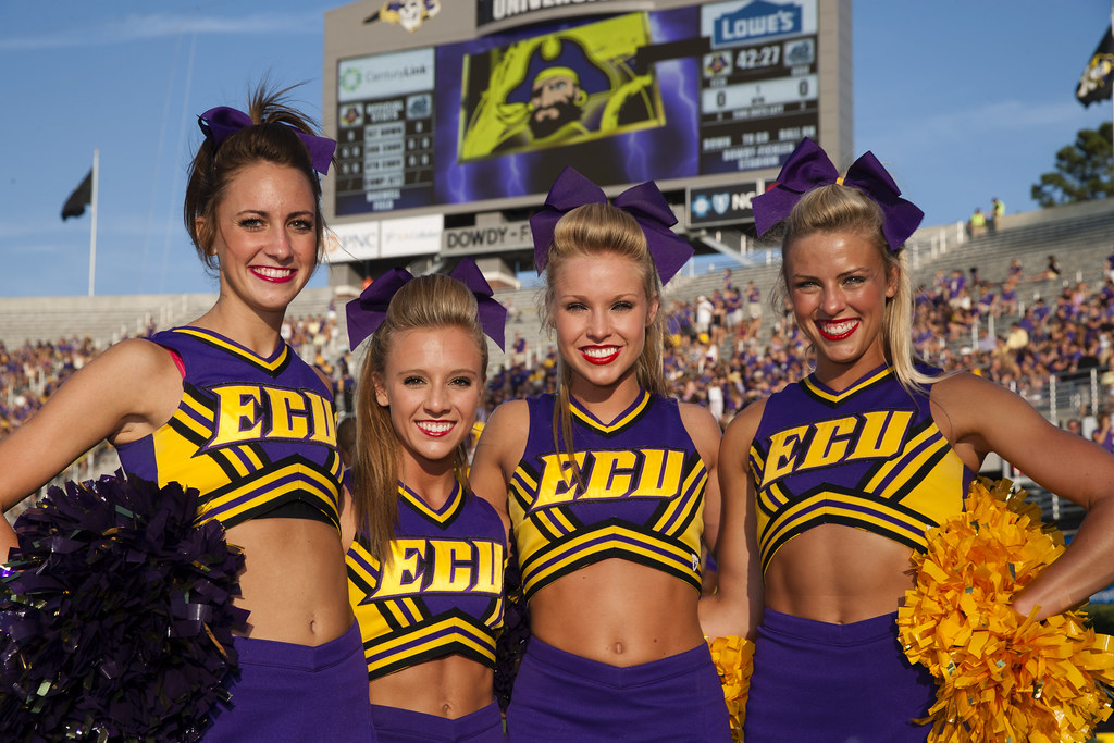 College football cheerleaders around the country - 2013 season