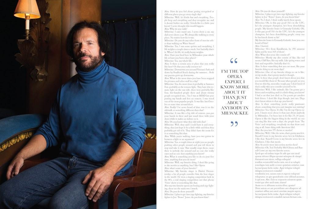 Interview Magazine Concept- Milverine | Designer/Art ...