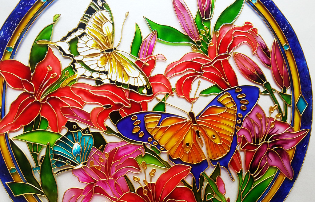 Butterfly designs for glass painting - photo#29