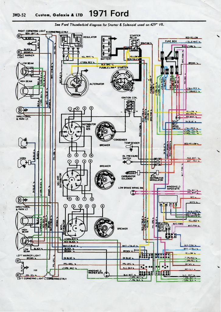 1989 ford ltd wiring diagram 1971 ford ltd wiring diagram front | 1971 ford ltd wiring ...