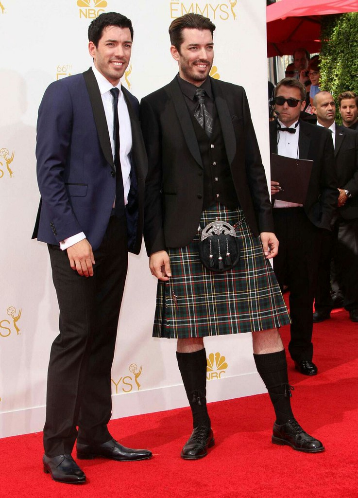 Jonathan Scott Lifting His Kilt And Showing Us His Boxer