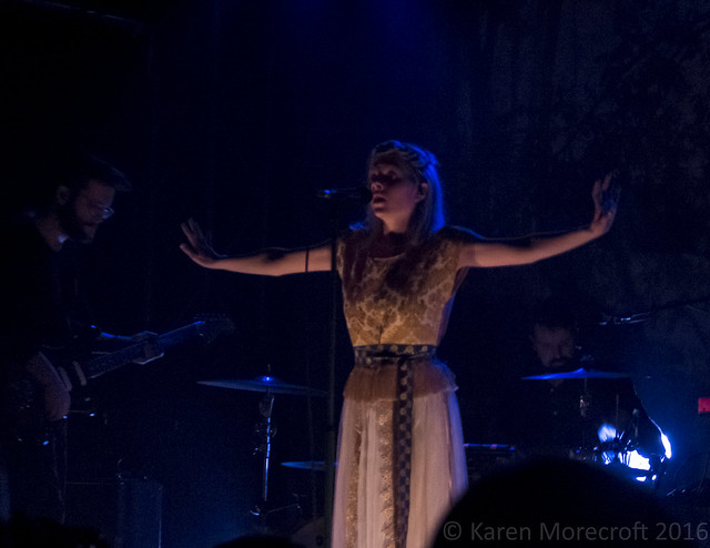 Norwegian singer Aurora Aksnes performing at the Oxford O2 Academy