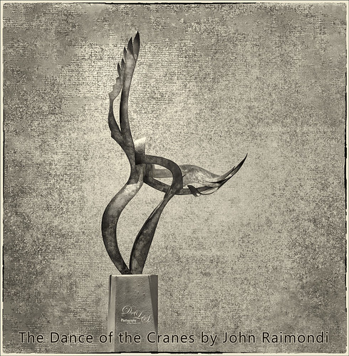 Image of John Raimondi's Dance of the Cranes Sculpture