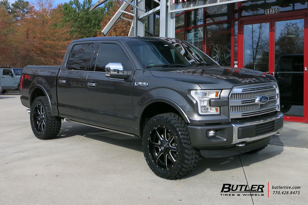 Ford F150 with 22in Fuel Maverick Wheels and Nitto Terra G ...