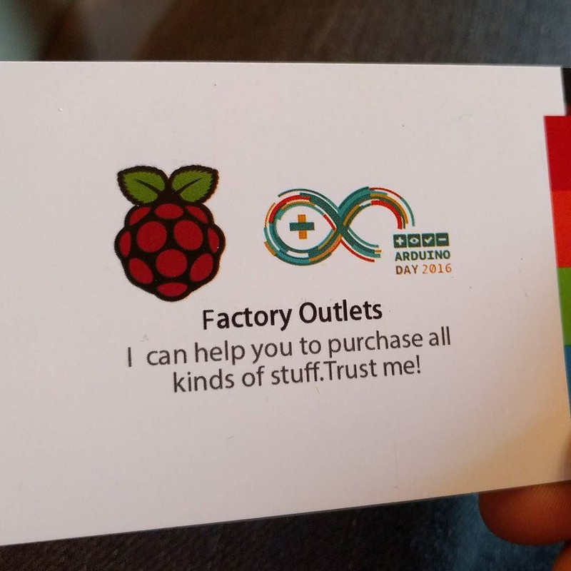 """Trust me!"" Best business card."